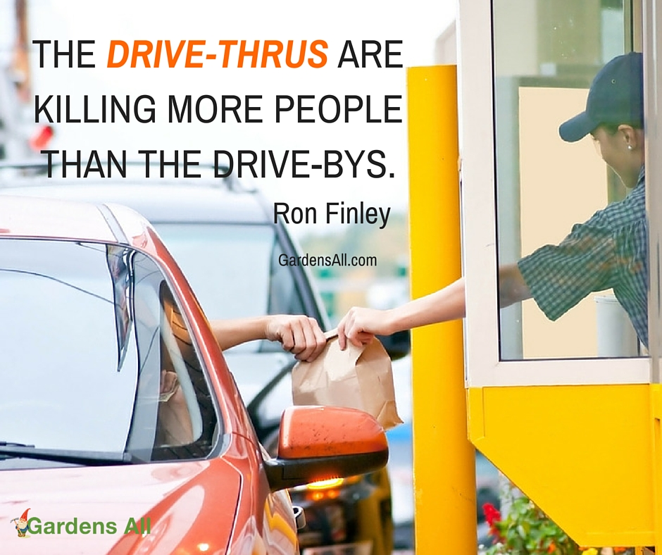 Community gardens, drive thrus are killing more people than drive bys, ron finley
