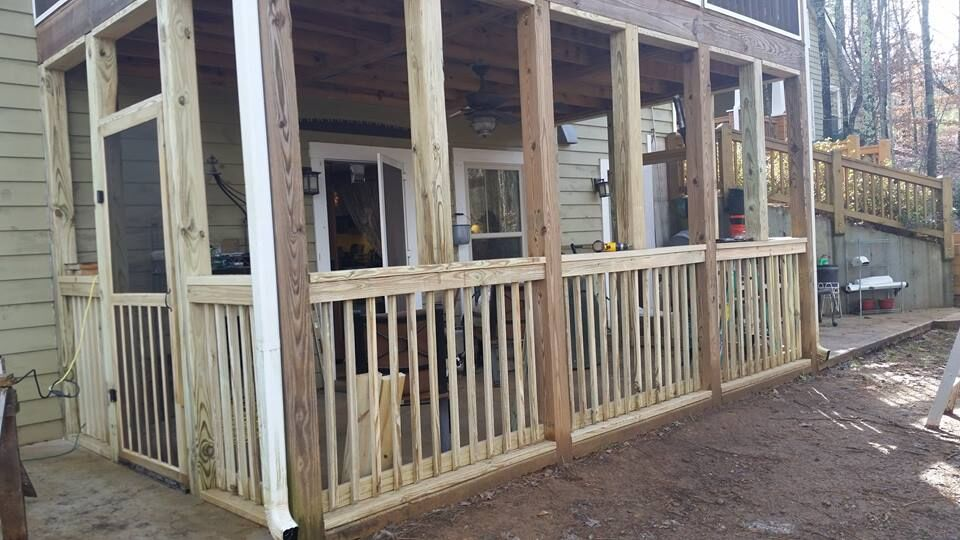 """We committed to one major and one minor project a year."" Kathie and Joe's screen porch project."
