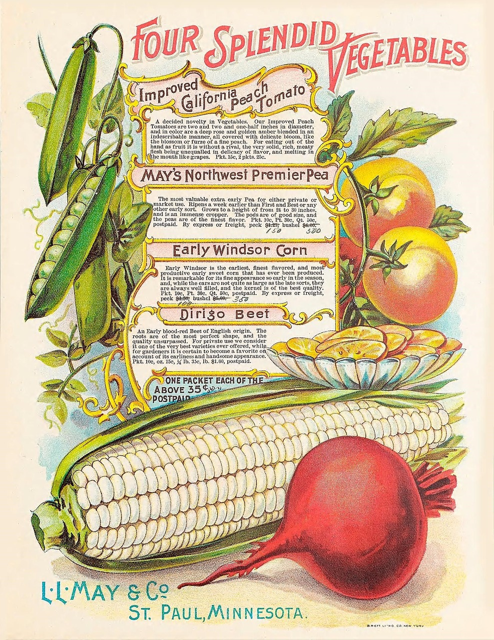 Vintage vegetable garden art