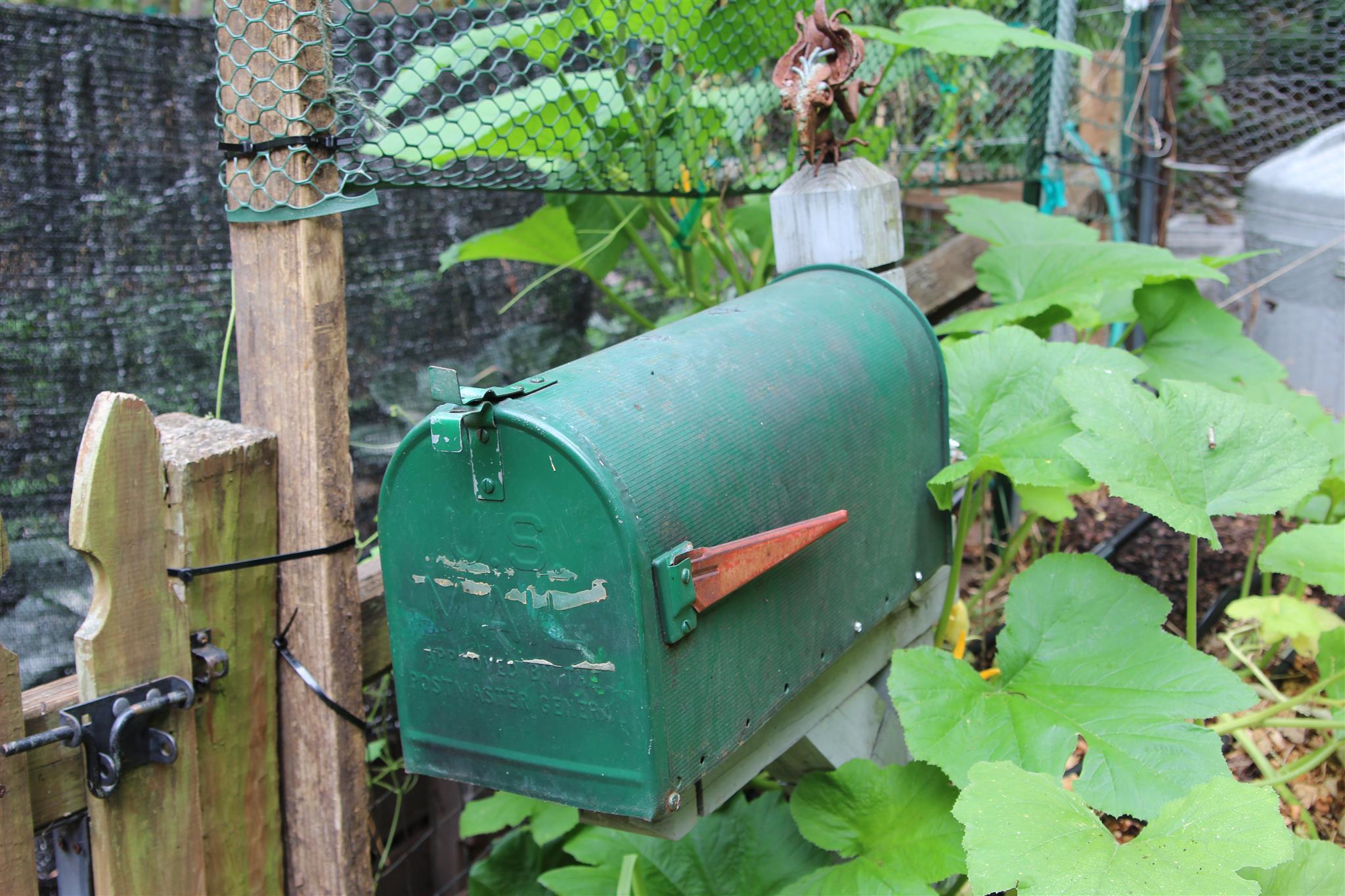 garden decor, garden mailbox
