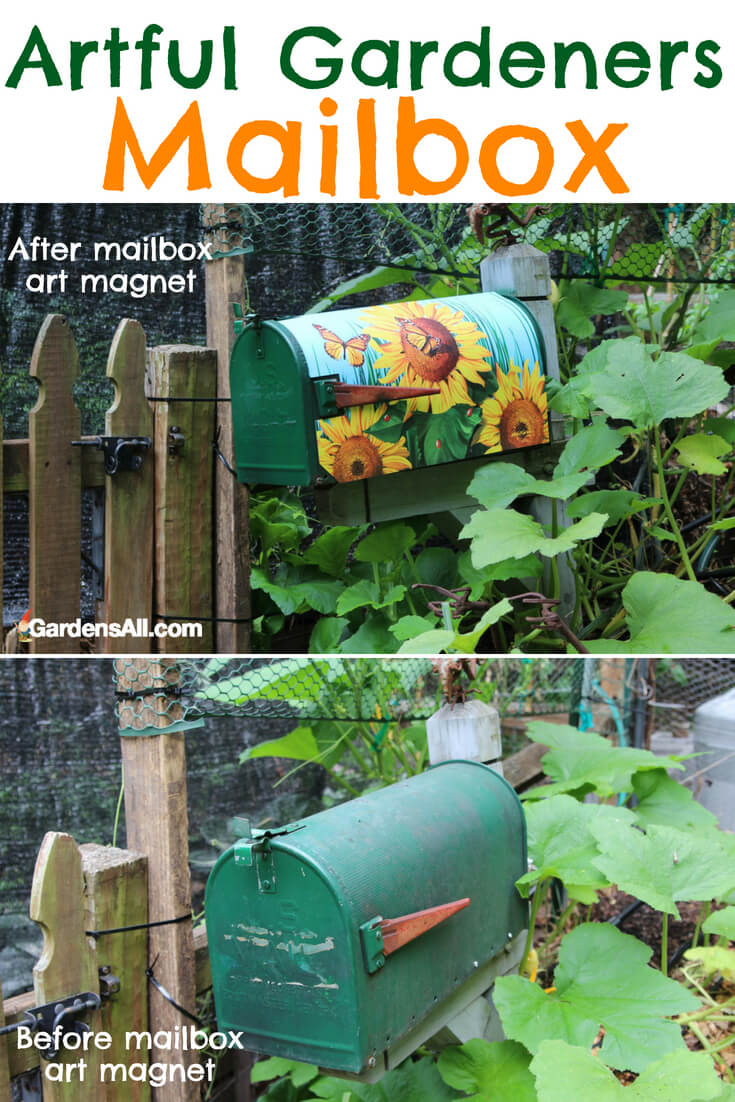 "So this simple tool is a fun idea that can also serve as whimsical garden decor. As indicated earlier, we keep our everyday garden hand tools in a handy ""garden mailbox"". #garden #gardentools #gardenart #art"