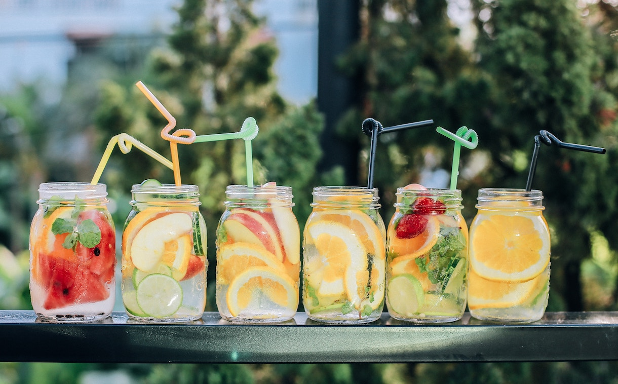 cucumber water, fruit waters