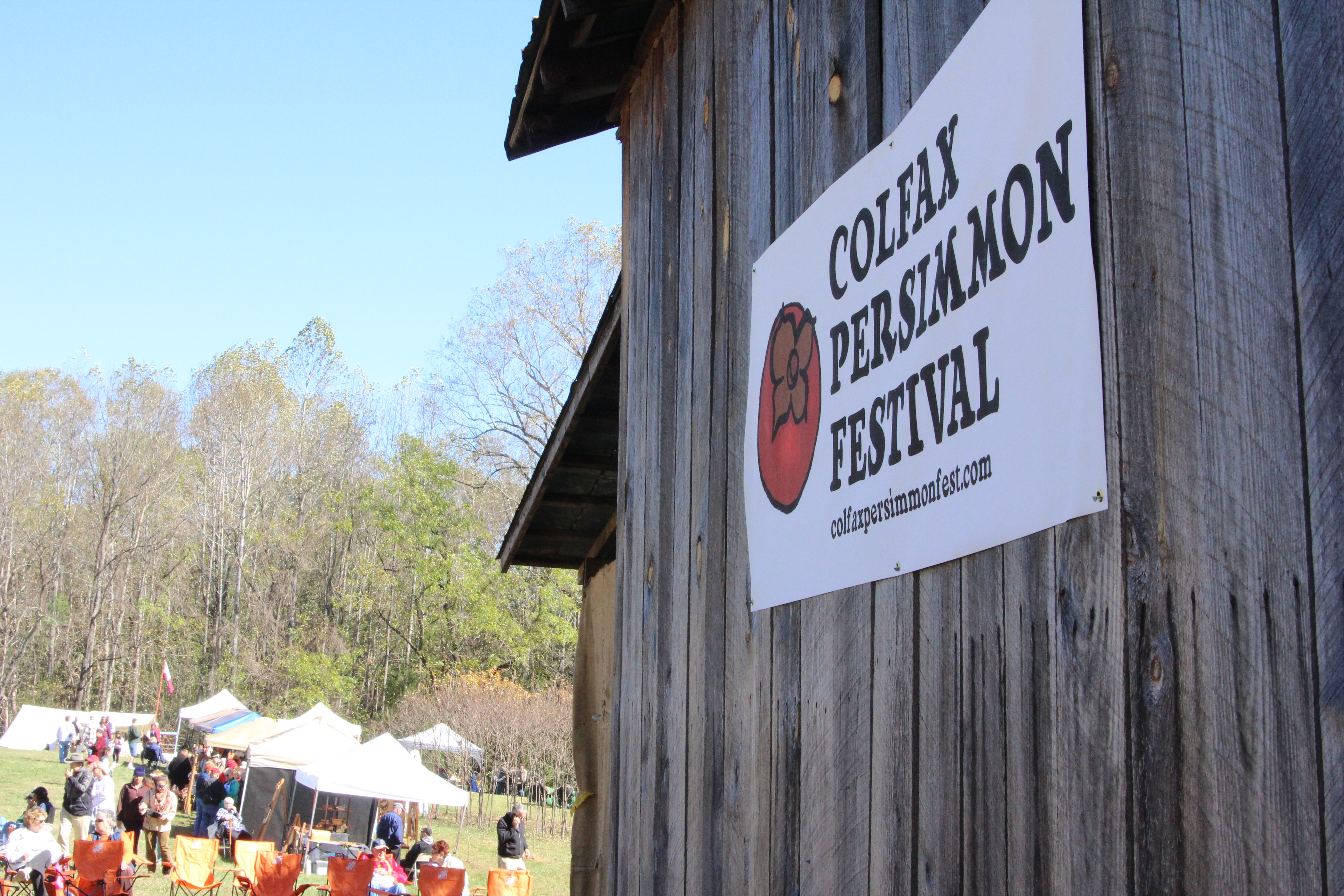 COLFAX, NC PERSIMMON FESTIVAL. Look for fall persimmon festivals in your area. #PersimmonFestivals #WildPersimmons