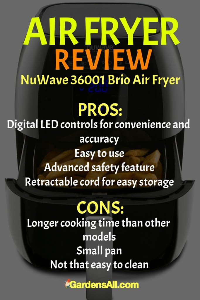 This NuWave 36001 Brio Air Fryer has a smaller capacity than other options. Cooking is not consistently even as well. If you're going to cook larger items, you might need to keep it to one to ensure even cooking. #AirFryer #AirFryerRecipes #AirCooker #OilLessFryer #MustHave #Appliances #Kitchen #Recipes