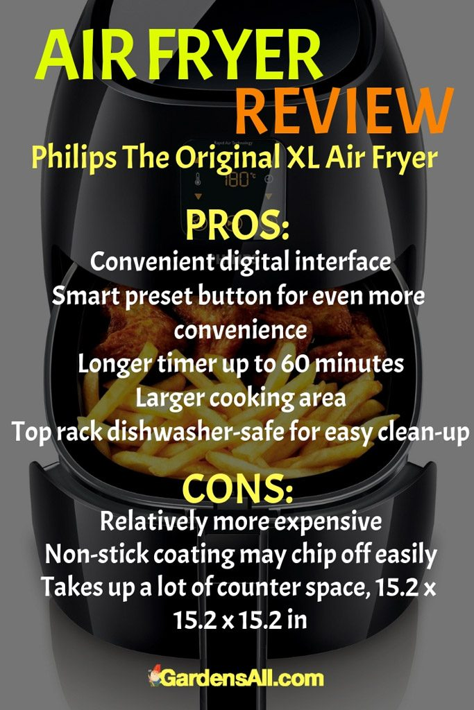 Featuring a larger 2.56 lbs. capacity, this particular Philips air fryer is double the capacity of other models. The XL Air Fryer can accommodate about two bags of French fries instead of the usual one bag. #AirFryer #AirFryerRecipes #AirCooker #OilLessFryer #MustHave #Appliances #Kitchen #Recipes