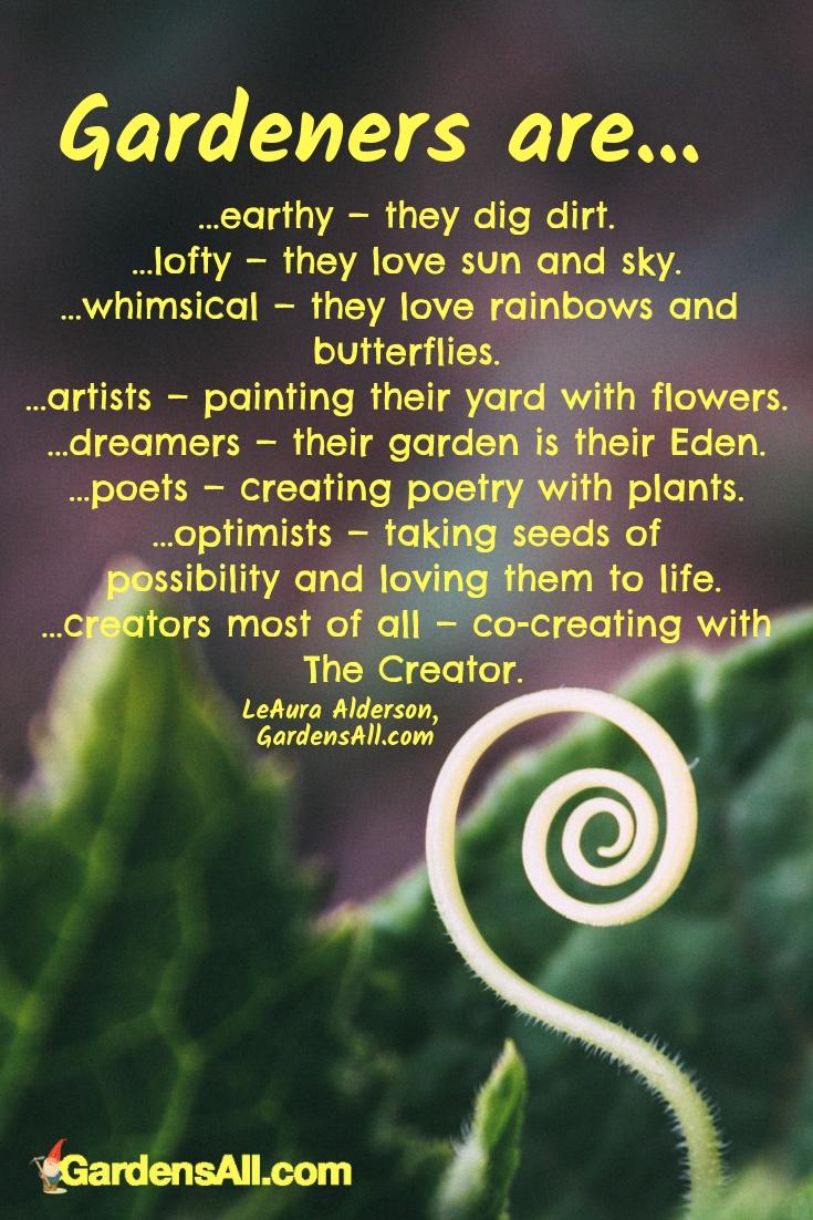 Garden Poem & Quotes