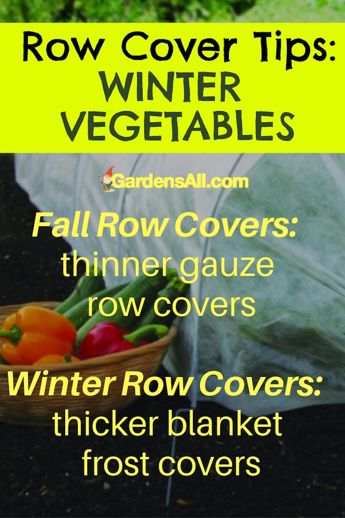 We use the gauzy (thinner) covers as the colder temps begin. Once the lows begin to drop below freezing, we change over to heavier frost cloth covers, sometimes referred to as frost blankets. More protection comes with a price though.#Vegetable #Ideas #Raised #Flower #Design #Container #Backyard #Tips #Herb #Landscaping #InPots #Indoor #Rose #Organic #Shade #Boxes #Urban #Pallet #Planters #Outdoor #wintergarden #summergarden #fallargen #springgarden #verticalgarden #gardentips #DIY