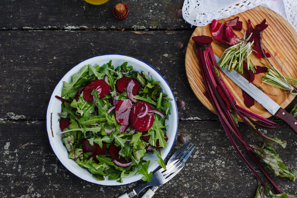 Dandelion leaf salad