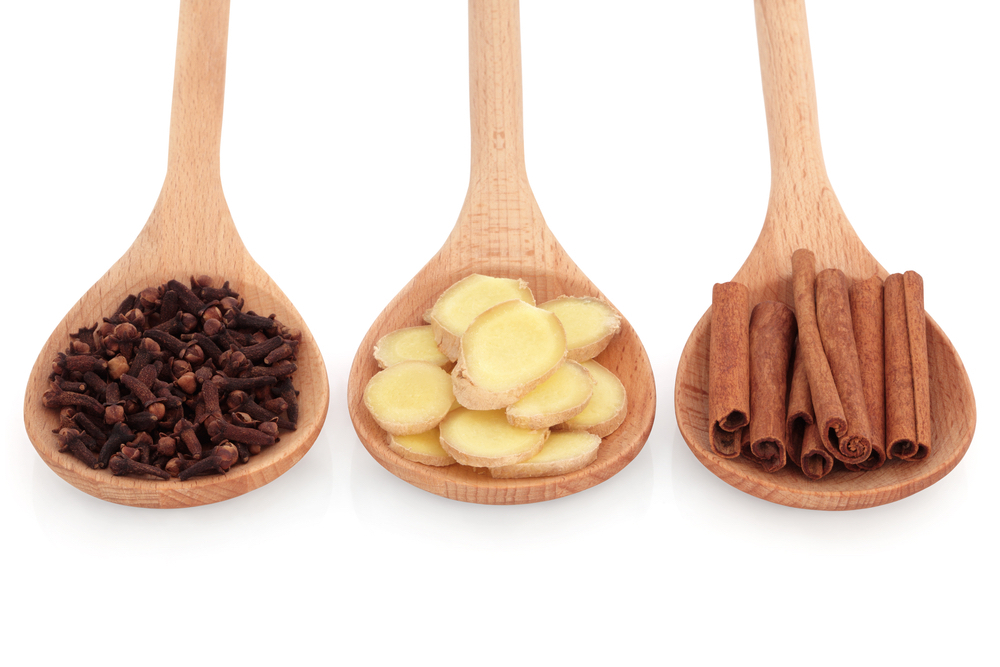 Cloves-ginger-cinnamon natural remedies for cold and flu
