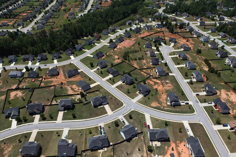 Aerial Subdivision View - No Gardens in Sight. #HOAgardeningRules #GrowFoodNotGrass #TransformNeighborhoods
