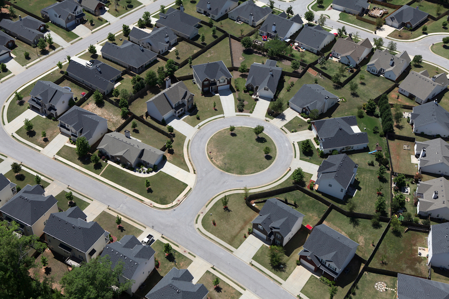 HOA Gardening Rules - Aerial-View-Subdivision. #HOAgardeningRule #HomeownersAssociationRules #AerialViews #Neighborhoods