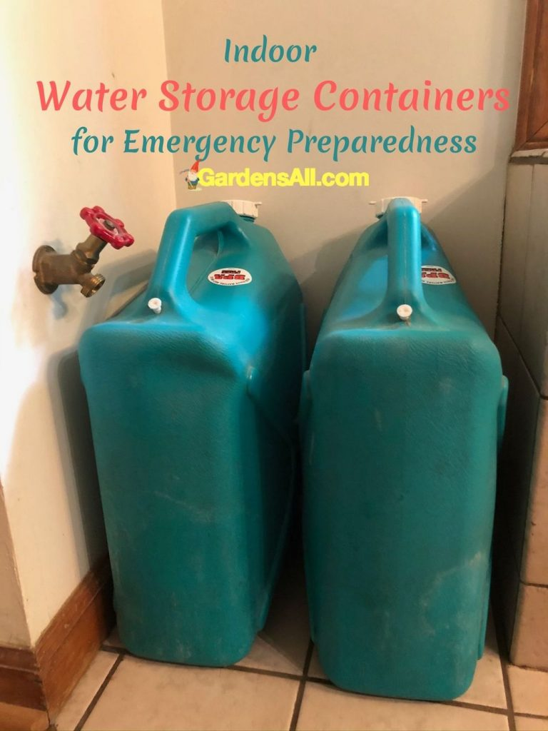 INDOOR WATER STORAGE CONTAINERSWhen we lose our power we lose our water too because we're on well water. These 6 Gallon Water Jugs and other Indoor Water Storage Containers are great for Emergency Preparedness. GardensAll.com #WaterStorageContainers #GardensAll #6GallonWaterStorageContainers #IndoorWaterStorage #OutdoorWaterStorage #EmergencyPreparedness #GardensAll.com #BestWaterStorageContainers