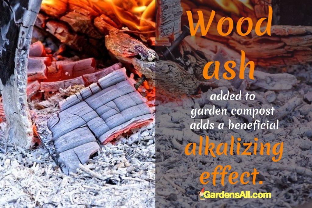 POTASH - Wood ash good for garden compost adds alkalinity to the soil.~GardensAll.com #WoodAsh #Alkalizing #AlkalineForSoil #AlkalineSoil #WoodAsh #Potash