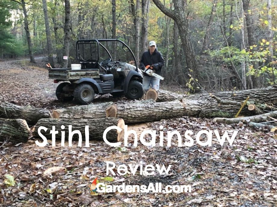 Hurricane Zeta Damage - felled trees across road. Free firewood! There's always a bright side, even if you have to look hard for it. Hurricane Zeta left us two downed trees that we cut into firewood with our trusty Stihl Chainsaw. #StihlChainsawReview #BestChainsaws #StihlChainsawInUse #GardensAll