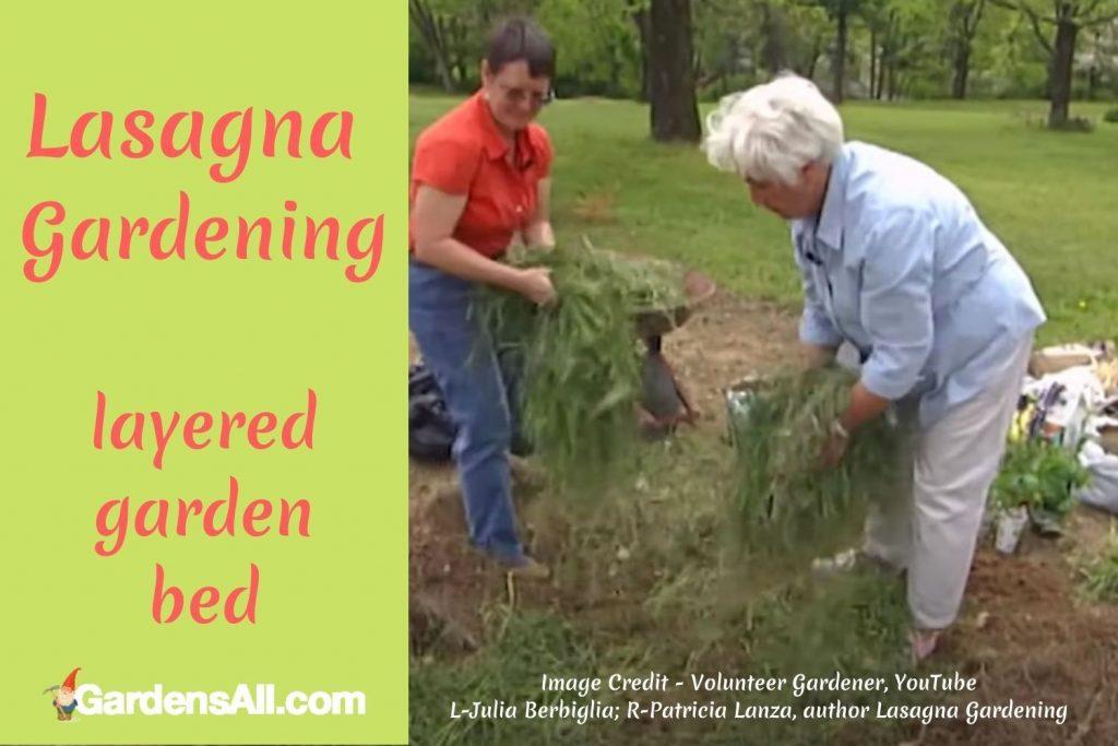 LASAGNA GARDENING - Layered Bed Gardening Method for No Till, No Dig Gardening #LasagnaGardening #LayeredGardenBed #NoDigGarden #NoTillGarden #GardensAll